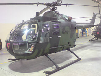 Celle Air Base - The Bölkow Bo-105 is the main mission- and training-helicopter at Celle Air Base