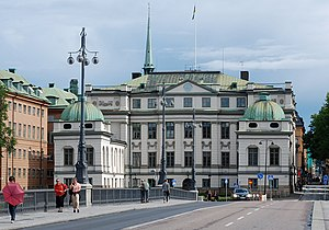 Bonde Palace - The Palace of Bonde, situated right next to the House of Knights, is the current seat of the Supreme Court of Sweden.