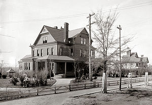 Tuskegee University - The Oaks, Booker T. Washington's home on the Tuskegee campus, c. 1906