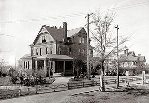 Tuskegee University - The Oaks, Booker T. Washington's home on the Tuskegee campus, c. 1906