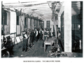 Bootmaking class in the machine room, Erskineville Bootmaking School 1909.png