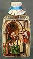 Bottiglia della manna di san nicola, con urbano II che depone le ossa di san nicola nella crpta della basilica, xix secolo.jpg