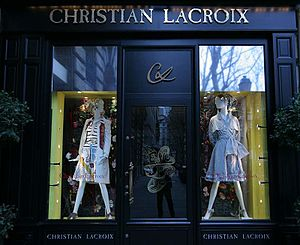 Showcase of a boutique by Christian Lacroix