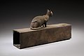Box for animal mummy surmounted by a cat, inscribed MET LC-12 182 27 EGDP023746.jpg