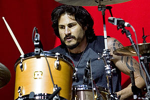 Brad Wilk - Brad Wilk performing at Optimus Alive '08 (July 10–12) in Lisbon, Portugal