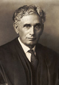 Supreme Court Justice Louis Brandeis, who built his career in Boston, and the namesake of Brandeis University in Waltham