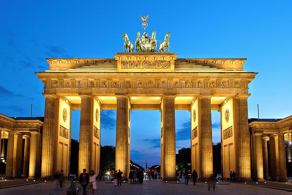 Brandenburger Tor abends