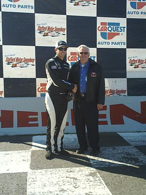 Brian Ickler - Ickler (left) with Bobby Allison