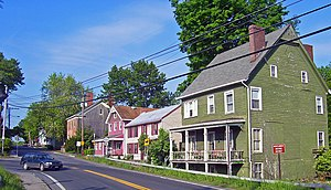 New York State Route 17K - Homes dating from the early 19th century in the Bridge Street Historic District at the western entrance to the village of Montgomery.