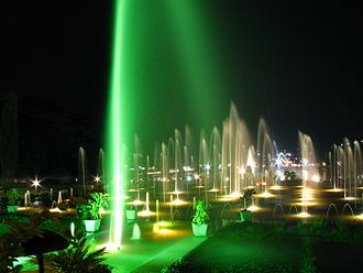 Brindavan Gardens - Brindavan Garden Fountains at Night