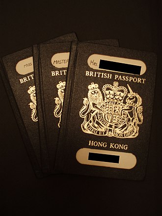 British Overseas Territories citizen - Image: British Dependencies Passport HK