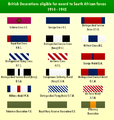 British Decorations eligible for SAfr forces 1939 to 1945.png