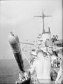 British Destroyer Fires a Torpedo, and Brings It Back Again. 25 November 1942, in the Indian Ocean Aboard HMS Derwent. a British Destroyer Carried Out a Torpedo Exercise and Afterwards Recovered the Torpedo. A13700.jpg