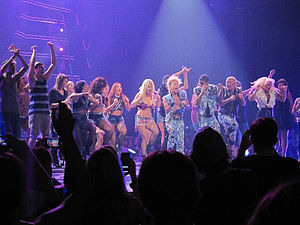 "I Wanna Go - Spears performing ""I Wanna Go"" at the Femme Fatale Tour. During the performance, members of the audience were brought on stage."