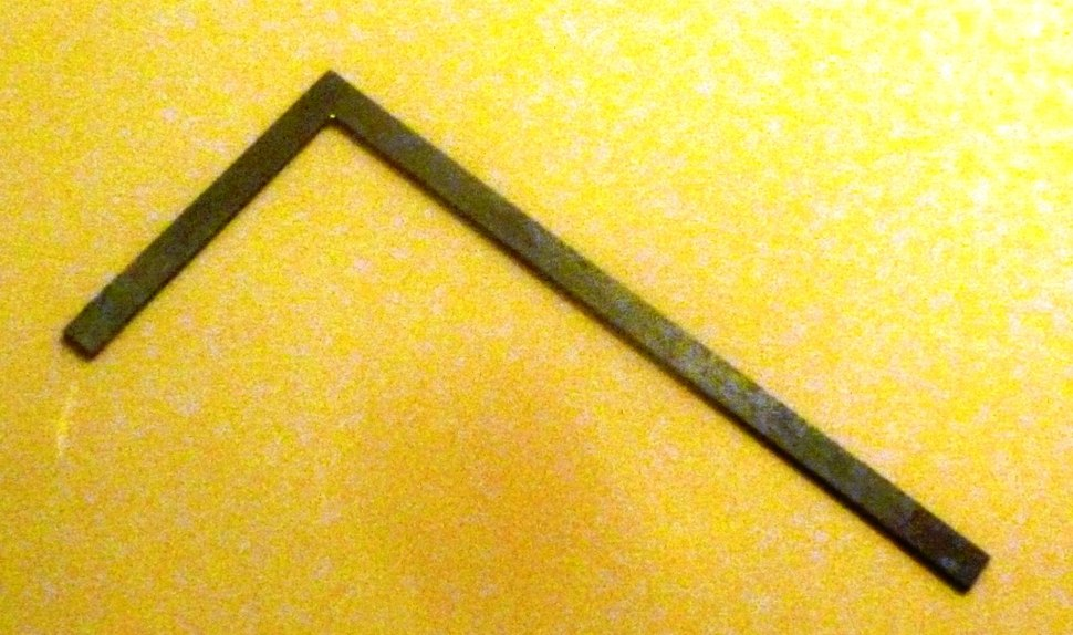 Bronze ruler. Han Dynasty 206 BCE to CE 220. Excavated in Zichang County. Shaanxi History Museum, Xi'an