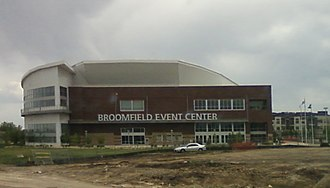 1stBank Center - Exterior of arena during construction, May 2009