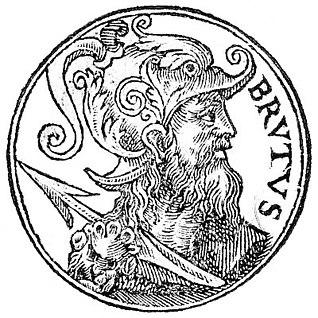 Brutus of Troy Legendary descendant of the Trojan hero Aeneas