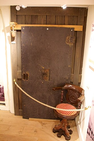 SS Persia (1900) - The door to the bullion room, salvaged and now located at Buckler's Hard.