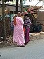 Buddhist female monk IMG 20180407 091755 yan aye street bahan yangoon.jpg