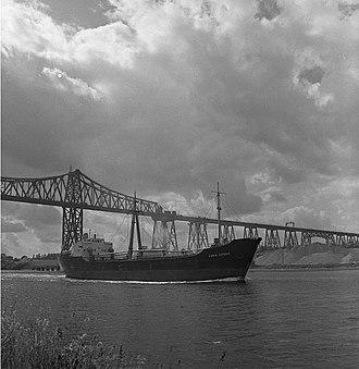Neumünster–Flensburg railway - Rendsburg High Bridge in 1961
