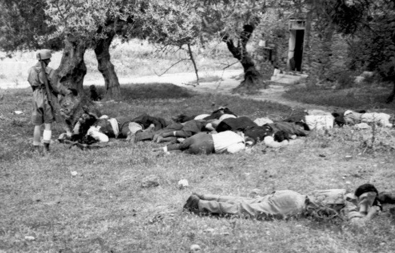 Bundesarchiv Bild 101I-166-0527-04, Kreta, Kondomari, Erschie%C3%9Fung von Zivilisten