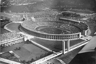 Olympiastadion (Berlin) - The Olympiastadion in 1936