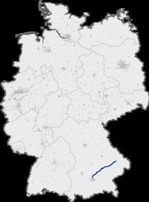 Bundesautobahn 92 - Image: Bundesautobahn 92 map