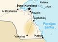 Burgan field. Map of Kuwait (lithuanian).png