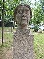 Bust of György Dózsa by Mihály Pál Sr., 1964 in Gyömrő, Hungary.jpg