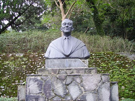 Hu Shih's tombstone in the park named after him, near Academia Sinica in Taiwan