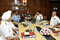 CNS and Naval Commanders interact with Chief of Army Staff and Chief of Air Staff at the 2014 Naval Commander's Conference.jpg