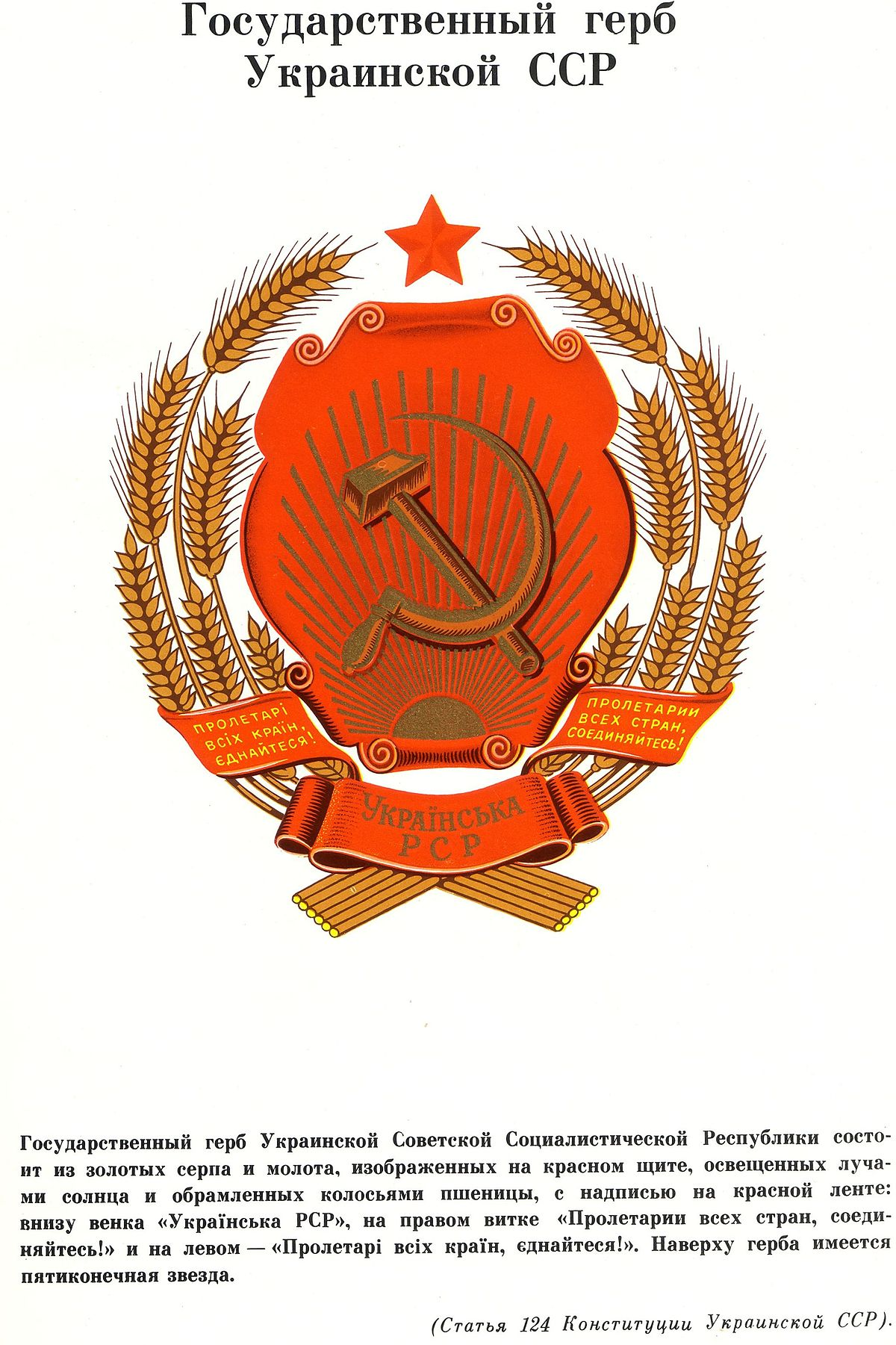 Картинка герб усср