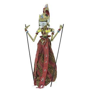 Virata Parva - Image: COLLECTIE TROPENMUSEUM Houten wajangpop voorstellende Abimanyu T Mnr 4283 86