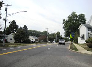 County Route 547 (New Jersey) - Looking south from CR 547's westernmost intersection with Route 71 (currently signed as its northern terminus)