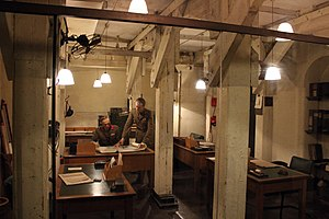 Military citadels under London - Interior of the Cabinet War Rooms