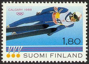 Matti Nykänen - Nykänen on a postage stamp