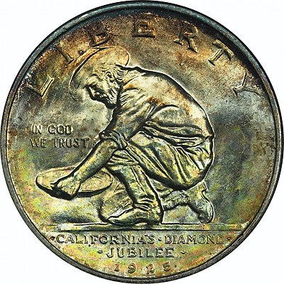 California Diamond Jubilee half dollar