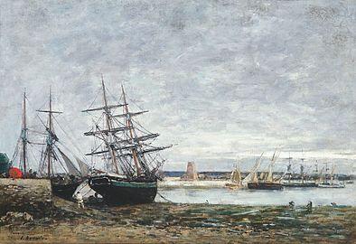 Camaret, marée basse dans la rade - Eugène Boudin.jpg