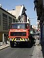 Camión Renault D20 con grúa Pesci SM270 en Burjassot.jpg