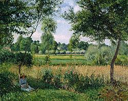 Camille Pissarro - Morning Sunlight Effect, Eragny - Google Art Project.jpg