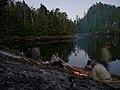 Camp fire at Pitt Island - panoramio.jpg