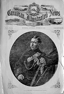 The cover of The Canadian Illustrated News with a halftone photograph of Prince Arthur