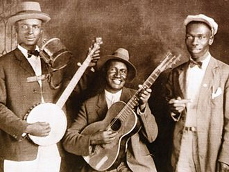 Gus Cannon - Gus Cannon's Jug Stompers, c. 1928 (Cannon is on the left)