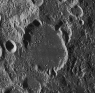 Cannon (crater) - Oblique Lunar Orbiter 4 image