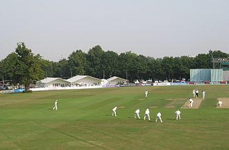 Kent County Cricket Club - Kent v South Africans in 2003, showing the old lime tree