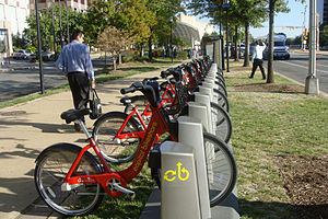 English: Capital Bikeshare pick up near Pentag...