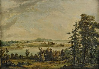 Jonas Carl Linnerhielm - Image: Carl Jonas Linmerhielm View over Hallsnäs mansion Småland
