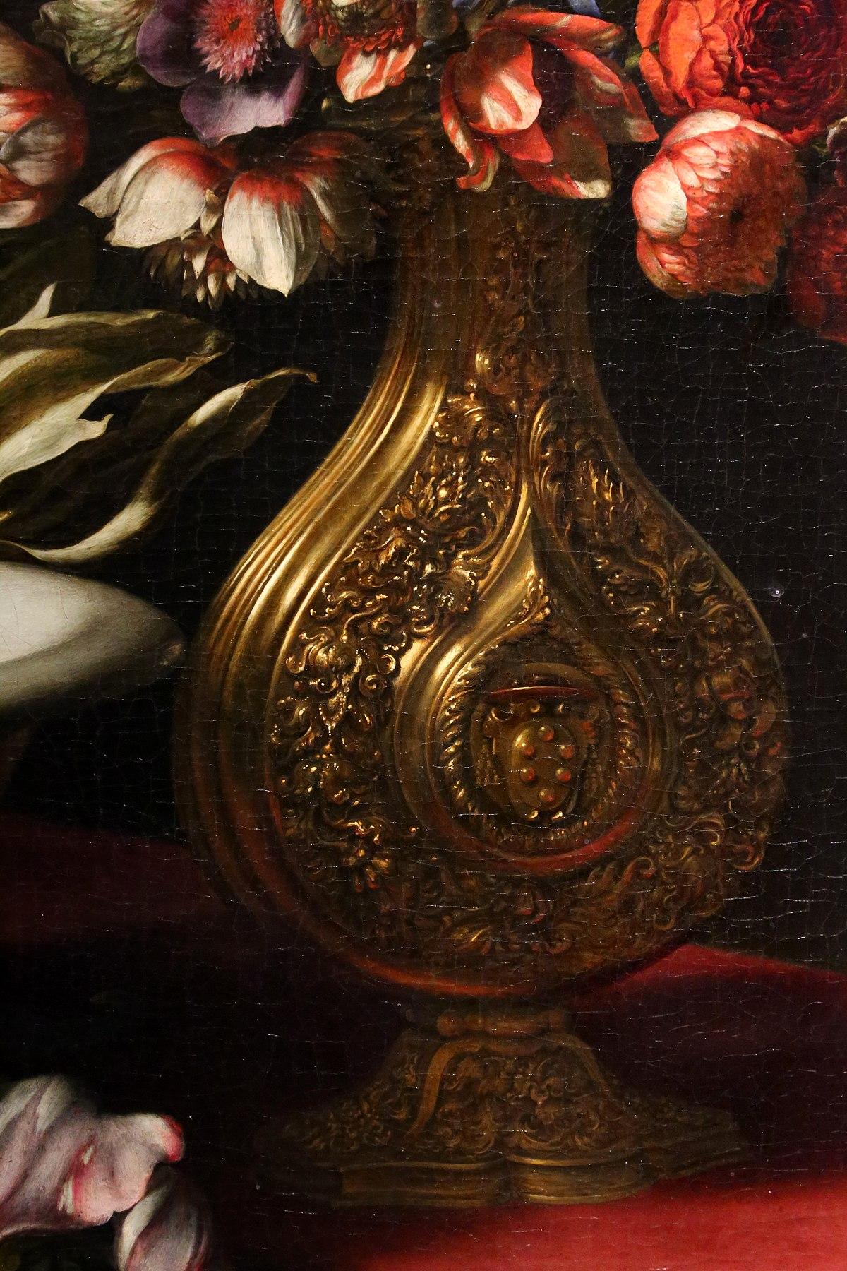 Fiori Con A.File Carlo Dolci Vaso Di Fiori In Un Vaso Con Stemma Medici E