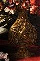 Carlo dolci, vaso di fiori in un vaso con stemma medici e bacile di ceramica, 1662, dipinto per la morte del card. giovan carlo 03.jpg