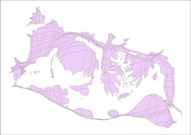 Cartogram of the estimated populations of cities in the Roman world in the Imperial period